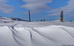 Roadside Drifts - Version 2 (walkerross42) Tags: snow drift snowdrift fence barbedwire winter wind nounan idaho bearlakecounty curve mountain