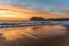 Cry's upon the shore DSC_3567 (BlueberryAsh) Tags: seaside seascape sunset refelctions beach orange coast ocean sand sky cloudsstormssunsetssunrises rocks australianseascape victorianseascape victoria
