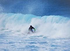 Wave (thomasgorman1) Tags: surf surfer surfing banzai pipeline wave sea shore seashore beach canon watersports colors blue bluegreen spray crashing