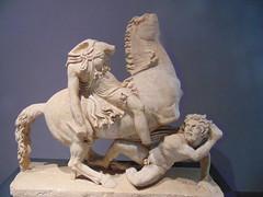 An Amazon and a barbarian (dimitar.illiev) Tags: roman hellenistic amazon barbarian sculpture statue pergamene asia minor art ancient greek mythology