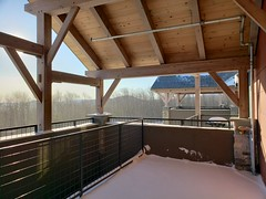 Our Front Porch At SouthFace Village (Joe Shlabotnik) Tags: cameraphone galaxys9 2020 january2020 vermont okemo