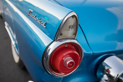 1955 Ford Thunderbird tail light (Photos By Clark) Tags: california vehicles northamerica subjects canon2470 canon5div carsandtrucks unitedstates location locale places where blue 1954 ford tbird thunderbird restored socalcar thesandiegoist