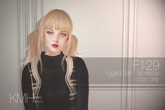 KMH Hair F129 @SaNaRae (Kumibou) Tags: secondlife sl kmh hair sanarae