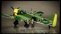COBI Junkers Ju 87B Stuka (Kobikowski) Tags: cobi lego luftwaffe german aircraft dive bomber ww2 wwii pilot collection model toy fujifilm xt20