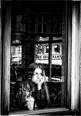 your mind travels (Angelo Petrozza) Tags: your mind travels bergen norway norvegia blackandwhite biancoenero bw eyes occhi capelli hair reflection riflesso finestra windows angelopetrozza pentax