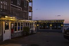 Fanizzi's Restaurant (brucetopher) Tags: sunset water sea ocean beach shore seashore cove bay