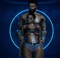 The Ring (Ƙɨᴛᴛƴ Ɓᴀ́ʟσʀ) Tags: secondlife sl poses couple ckeyposes doux hair fun hot sexy love glasses toxic bish foxcity ring blue neon dark gacha event dubai