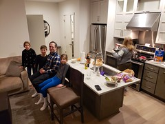Hanging Out In Our Condo After A Great Day Of Skiing (Joe Shlabotnik) Tags: 2020 galaxys9 january2020 vermont robj violet gideon abigailj okemo cameraphone sue