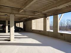 The Parking Garage Under Our Condo (Joe Shlabotnik) Tags: 2020 galaxys9 january2020 vermont parkinggarage okemo cameraphone