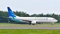Garuda Indonesia B738 (michaeladi71) Tags: garudaindonesia boeing boeing737 boeing737ng boeing737800 boeing737800wl 737800 b738 plm wipp pkgfo b73786n