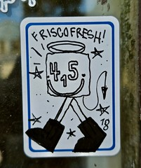 Frisco Fresh, San Francisco, CA (Robby Virus) Tags: sanfrancisco sf ca california sticker slap frisco friscofresh 415 area code fresh