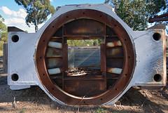 Great Melbourne Telescope 6 (PhillMono) Tags: nikon dslr d7100 australia travel tourist history heritage great melbourne telescope ruin relic fire rust abandoned canberra bushfire mount stromlo observatory rusty