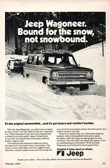 1973 Jeep Wagoneer 4WD Wagon American Motors USA Original Magazine Advertisement (Darren Marlow) Tags: 1 3 4 7 9 19 73 1973 j jeep w wagoneer wagon 4wd c car cool collectible collectors classic a automobile v vehicle u s us usa united states m motors american america 70s