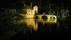 Quiet and swans (cigno5!) Tags: monastery bridge longexposure swan water lake tourist flash paint tree wind yellow calm quiet silence belgium outdoor