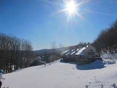 Okemo Trailside Village (Joe Shlabotnik) Tags: 2020 snow skiing vermont january2020 winter violet everett okemo sue 60225mm