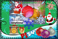 Christmas Card Contest (SammyR xoxo) Tags: 2019 pizap colorful santa srmpcbsr18 border collageart contest