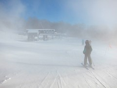Heading To The South Face Lift (Joe Shlabotnik) Tags: 2020 snow skiing vermont january2020 winter violet proudparents okemo sue 60225mm