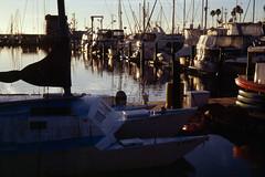 2020-01-25, 05h53m08s, boat, film, harbor, Kodak Ektachrome 100, morning, Santa Barbara, scan (markalanthomas) Tags: kodakektachrome100 santabarbara boat film harbor morning scan