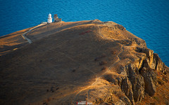 Old lighthouse (zaxarou77) Tags: old lighthouse meganom crimea russia landscape nature outdoor sea ground blue orange autumn color sony ilce a7 a7m2 a7mii minolta 100200 f45
