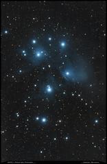 M45 - 4h revisitée (Adrien Witczak) Tags: adrienwitczak astrophotographie astrophotography astronomie astronomy astrophoto canon1000ddefiltre cielprofond deepspace m45 amas lespleiades ciel espace étoiles univers
