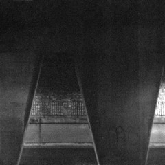 Light Super (camera_holic) Tags: light super 127 uera 70mm lens optical works japan 1960 kowa kid 4644 4x6 4x4 film analogue camera vintage retro roll rollfilm japanese viewfinder black plastic metal body cool hp400 white blanc noir square format hp5 ilford harmann filton bristol abbey wood abbeywood railway bridge support dark