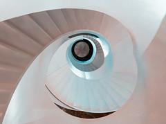 Nacre spiral (Karsten Gieselmann) Tags: 714mmf28 architektur em1markii mzuiko microfourthirds olympus treppenhaus architecture kgiesel m43 mft staircase stairs munich bavaria germany