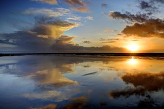 Soft Hand (pauldunn52) Tags: sunset beach reflections glamorgan heritage coast wales