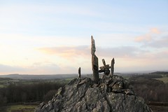 High .... naturally (Andrew 62) Tags: rockbalance stonesculptures beaconhill charnwoodforest sky leicestershire landscape nature trees cloud