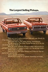 1973 International Harvester Pickup Truck Page 1 USA Original Magazine Advertisement (Darren Marlow) Tags: 1 3 7 9 19 73 1973 i international h harverster p pick u up t truck c car cool collectible collectors classic a automobile v vehicle us usa united s states american america 70s