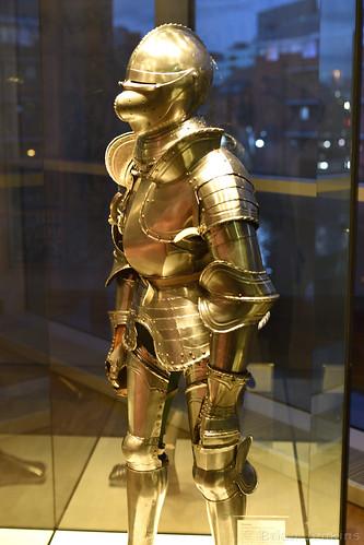 German Heavy Cavalry Armour (c.1540) at Dusk