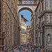 The Vasari Corridor Bridge, Via della Nina, Florence