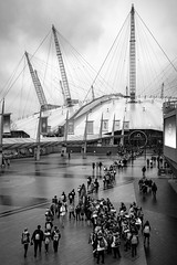 Dome (A U Bien) Tags: london o2 arena millenium dome north greenwich people crowd overcast blackandwhite monochrome ricoh gr peninsula