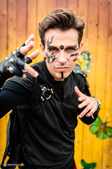 © CyberFactory - TomorrowLand Belgium - 0667 (CyberFactory) Tags: boys facepainted facepainting fingerlessgloves gloves guys males man men openair outdoor outfit partyboys portrait solo