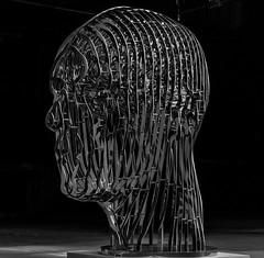 Thinker (michael_hamburg69) Tags: schleswigholstein büdelsdorf carlshütte kunst art nordart 2019 künstler artist sculpture skulptur sculptor davidčerný thinker denker kopf metal head metall chrome chrom