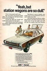 1973 Hornet Sportabout Sortwagon American Motors USA Original Magazine Advertisement (Darren Marlow) Tags: 1 3 7 9 19 73 1973 r rambler h hornet s sportabout w wagon sport c car cool collectible collectors classic a automobile v vehicle u us usa united states m motors american america 70s