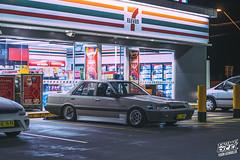 _DSC7159 (Prime Excel) Tags: r31 nissan skyline automotive cars nightphotography night tones 7eleven