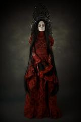 lady red (dolls of milena) Tags: abjd resin doll aishat kokoshnik red retro dark vintage portrait black cherry