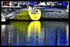 Bateau à la coque jaune (bleumarie) Tags: 11janvier2020 hiver20192020 janvier2020 leracou littoralméditerranéen mariebousquet nikond90 suddelafrance argelès bleu bleumarie catalogne eau france hiver janvier languedocroussillon littoral méditerranée méridional mer midi nature nikon occitanie paysage port portargelès pyrénéesorientales roussillon sud bateau navire embarcation jaune reflet coque coloré couleur
