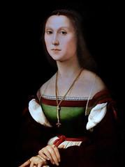 IMG_8734NA Raffaello Sanzio 1483-1520  Roma Portrait d'une dame  Portrait of a lady (La Muta)  Urbino Galleria Nazionale delle Marche (jean louis mazieres) Tags: peintres peintures painting musée museum museo italia urbino gallerianazionaledellemarche