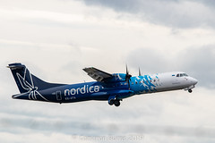 Nordica ES-ATA ATR 72-600 (IMG_5882) (Cameron Burns) Tags: nordica ee esata flybe be atr at76 atr72 atr72600 bhd belfast northern ireland irish blue white propeller glasgow airport glasgowairport gla egpf international airfield aviation aerospace airliner aeroplane aircraft airplane plane canoneos80d canoneos eos80d canon80d canon eos 80d uk united kingdom unitedkingdom gb greatbritain great britain scotland europe action