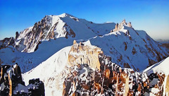 FRANCE - Alps -  Needle of the Midi (Jacques Rollet (little available)) Tags: france alps snow mountain montagne neige rocher falaise