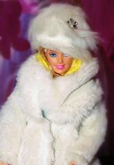 Barbie in her fluffy Coat (marieschubert1) Tags: smileonsaturday fluffy mattel barbie doll winter coat hat white warm