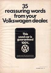 1970 Volkswagen Used Car Guaranteed 100% USA Original Magazine Advertisement (Darren Marlow) Tags: 1 7 9 19 70 1970 v w vw volkswagen u used c car cool collectible collectors classica automobile vehicleg germany germn e european europe 70s