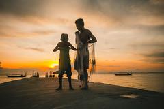 Father and Son (ericmontalban) Tags: sunset cambodia people sihanoukville otresbeach