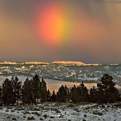 """Winter Rainbow over """"W"""" Butte (franklin331) Tags: quotwquotbutte aspect backcountry bliss blissdinosaurranch blissphotographics blissranch border borderlands frame frankbliss franklinebliss image land landscape landscapeladder montana photo rainbow ranchlands ranchcreekdrainage saturdayread saturdayscience saturdayshoutout saturdayspecial saturdaystyle scenery scenic sheetrainbow sonyalpha winterrainbow wyoming"""