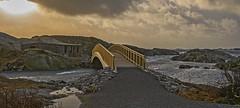 the bridge over to Daumannsholmen (gormjarl) Tags: kristiansand wather lake fjord sunset beach water sky natur night art light sun cloud landscape river norway city flekkerøy war