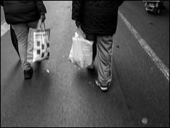 Bags (GColoPhotographer) Tags: streetphotography bergamo bw market topdown bianconero street blackandwhite bag