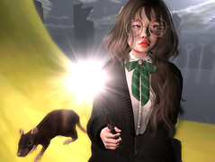 Oops~ (空中野) Tags: hp harrypotter mischiefmanaged sl secondlife avatar mesh sintiklia doux jian genus
