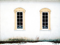 ... (Jean S..) Tags: building windows white yellow old ancient manor house museum