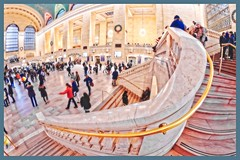 Grand Central Terminal - New York, NY (oscarpetefan) Tags: oscarpetefan newyorkcity manhattan newyork grandcentralterminal dxo11 on1pics on1photoraw nikon d500 dx meetup wideangle fisheye samyang rokinon prooptic8mmfisheye slowshutter filmsimulation kodakkodachrome25 urban